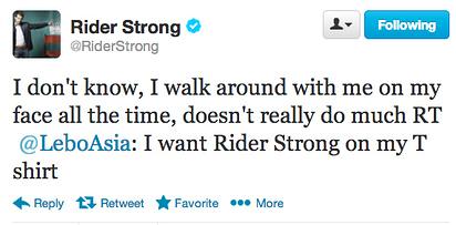 Matt's BMW costar, Rider Strong :)