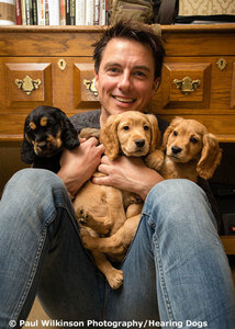 John Barrowman uses Twitter a lot.He has tweeted Vicky several times<3