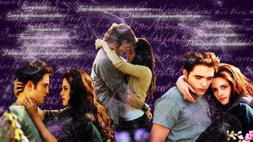 Edward and Bella~A Thousand Years lyrics<3