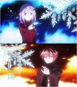 Guilty Crown - My Dearest http://www.youtube.com/watch?v=DjUtmbZt8zc Guilty Crown - The Everlasting Guilty Crown http://www.youtube.com/watch?v=p3978d97EsE Mahouka Koukou no Rettousei - Rising Hope http://www.youtube.com/watch?v=WvLQ0GQm9E0 Sword Art Online - Crossing Field http://www.youtube.com/watch?v=jP5Jm9eWrhw Selector Infected WIXOSS - Killy Killy Joker http://www.youtube.com/watch?v=rzY7qyXEBSI