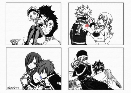 The big four. Especially Nalu. Reason? Simple. Because Mashima-sensei made them for each other. ♥