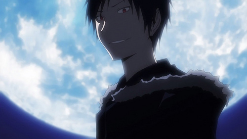 "Izaya Orihara from Durarara!! I DON'T CARE WHAT ANYBODY SAYS, I SWEAR TO KAMI, HE'S AN ALIEN! Srsly this guy is just not freaken normal! ""I love humans, they'er so much fun"" WHAT KIND OF PERSON SAYS THAT?? He could be an alien....or just crazy."