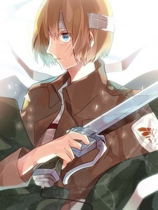 armin arlert as the answer to both hes smart and itd be fun to talk to someone like me ^_^