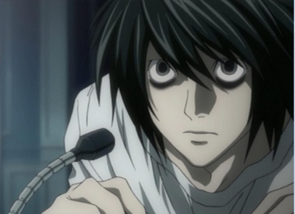 L from Death Note ;)