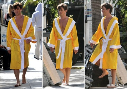 Matt on the set of Magic Mike <33333