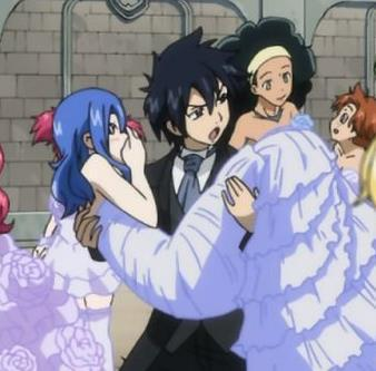 "The answer is maybe. Remember in episode 120? Gray keeps on thinking if Juvia is safe.This is the scene when Gray starts to care for Juvia. In episode 134, many gruvia fans said that Gray is jealous at Lyon and Juvia. It's true. You can see it in his reaction.In episode 163, Gray stole Juvia from Lyon. This is an example of Gray's jealousy! In OVA 5, when   Juvia asked Gray to ride the 'love love slider' with her, Gray blushed and said 'let's do it' which means he actually wants to! But when Lyon carried Juvia, gray got mad at Lyon for taking away Juvia from him. This is another example of his jealousy. Remember when Erza told Gray to make things clear with Juvia? Gray blushed at that question! In fairytail wiki, it is said that ""This is a scene that hints to Gray having feelings for Juvia or starting to develop them."" Which means that he might have feelings for her after all! I don't know much about Graylu. It is true when Gemini turned to gray, it is said that he is interested in her but when new episodes arrived, Gray is starting to care for Juvia! It's all Juvia and for Lucy, Natsu is for her. Gray thinks Lucy as her sister. Besides, when Hiro Mashima is interviewed, it is said that Gruvia will be a couple in the future. I hope I answered your question ;)"