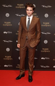 my gorgeous Rob in a brown suit<3