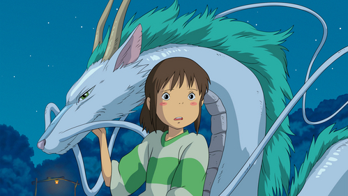 It's a tie between Howl's Moving schloss and Spirited Away. <3