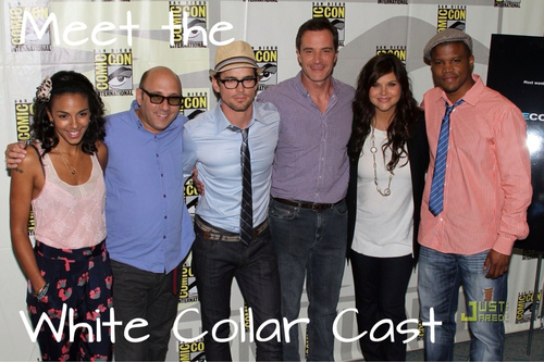 Matt with his White collar, alama co-stars at the Comic Con 2010 <33333