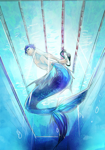haruka nanase from free! as a merman can i just say how gorgeous this picture is because wow its amazing