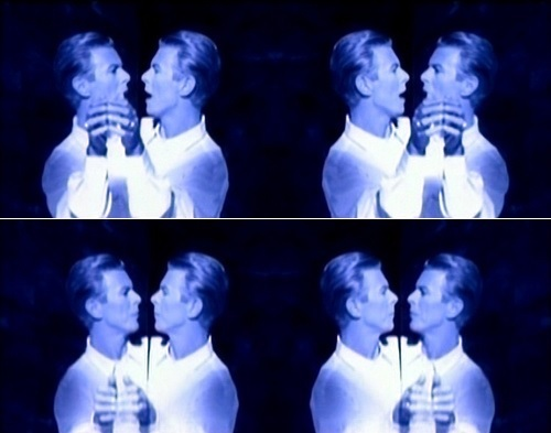 Bowie dancing with himself. he's so lucky xD