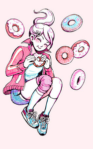 Technically not candy, but Aoi with donuts!