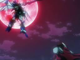 Me is Excellen Browning in her Rein Weissritter! (Look at the moon, The Rein Weissritter!) SRW OG