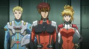 Super Robot Wars This is the three Main Characters Brooklyn Luckfield (BULLET) Kyosuke Nanbu Excellen Browning