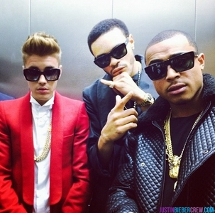 Justin and friends.