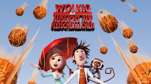 Hmm, I don't know. I think it was....Cloudy with a Chance of Meatballs in German...? (Wolkig mit Aussicht auf Fleischbällchen) I liked the English voices better lol.