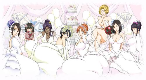 Bleach Girls in wedding dress