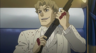 Ladd Russo from Baccano! is quite sadistic, if anda ask me.