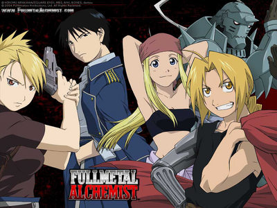 Fullmetal Alchemist Aired: 2003 – 2004 Recommended Age Group: 13+ The story is very original, it has memorable chatacters, funny and sad moments, and really good action. Plot: Brothers Edward and Alphonse Elric tried to bring their mother back to life using alchemy (the science of manipulating matter with natural energy), and it goes wrong: Ed loses his arm and leg, and Al loses his whole body. (Al is the suit of armor in the picture; his soul is attached to the armor, and Ed is the blonde guy with the metal arm) They are seeking the powerful Philosopher's Stone to restore their bodies to normal.