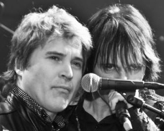 Singers Terence Gowan with his big brother Lawrence Gowan.