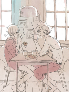 Well, I like UsUk but my new inayopendelewa is DenNor. I just think they're really cute together. My least inayopendelewa would be FrUk. Actually, I can't stand it.