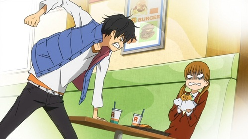 Haru Yoshida(tonari no kaibutsu kun) well,he get's angry very quick......especially if someone troubles Shizuku.