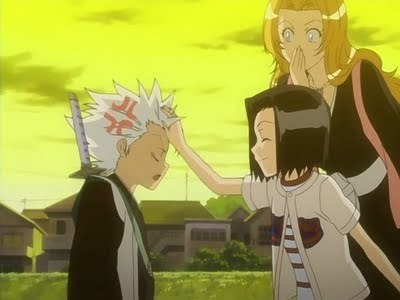 Toshiro Hitsugaya (Bleachl) Toshiro getting irritated 由 Karin 由 calling him kid..........he eh he