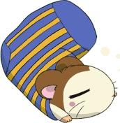 Snoozer~Hamtaro He's pretty much always sleeping. :P