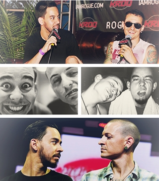 Chester with his pal Mike Shinoda