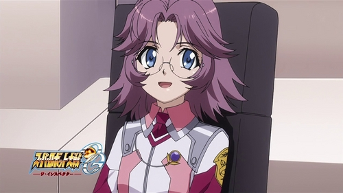 Latooni Subota at SRW OG. She uses her glasses to scan people and robots. But, when she became the body guard of Princess Shine, she doesn't wore it now.