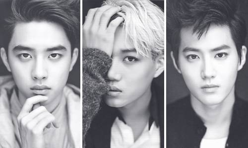 my favorite trio!<3 D.O, KAI and SUHO<3