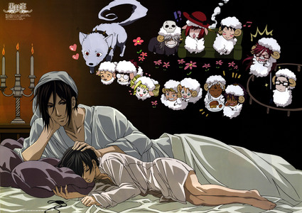 Black butler ~ Sebastian, Ciel & the rest xD This is just so adorable (^_^) ♥