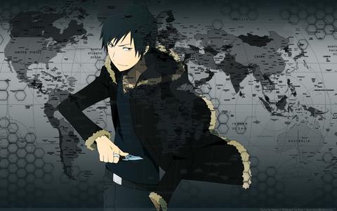Izaya Orihara, the info broker from Durarara!! He knows everything.... >.>