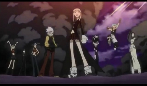 The Soul Eater Gang ;) Maka Albarn, Soul Eater, Crona, Black Star, Tsubaki, Death The Kid, Liz, and Patty Thompson