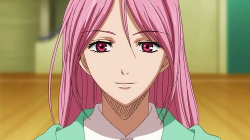 Satsuki Momoi (Kuroko No Basket) she is a coach of Too academy who provides information about her enemies to her team to make up new strategy...sooo they could win against them.......he he he