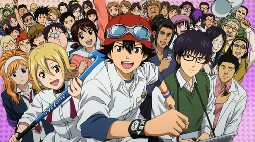 sket dance! :D they have put that series in tv like 2 times!!!