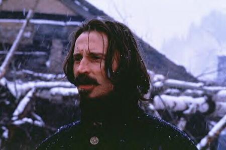 Bobby in snowy rain