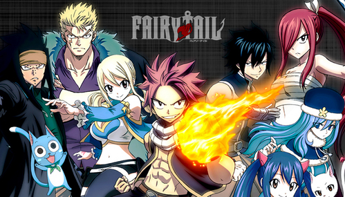 fairy tail... actually that the only thing i've watched.... there r many new アニメ series in my watchlist but unfortunately i cant watch due to school! :(