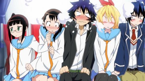 Nisekoi, Chuunibyou Season 2, and Seitokai Yakuindomo*.