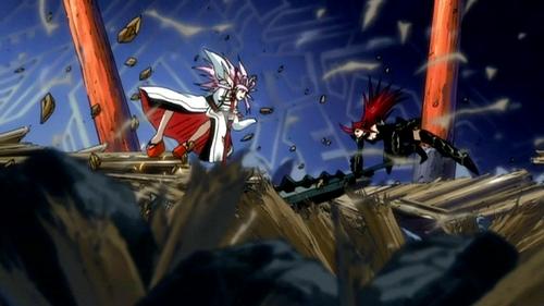 Erza vs Ikaruga (Fairy Tail) One of my preferito battle <3