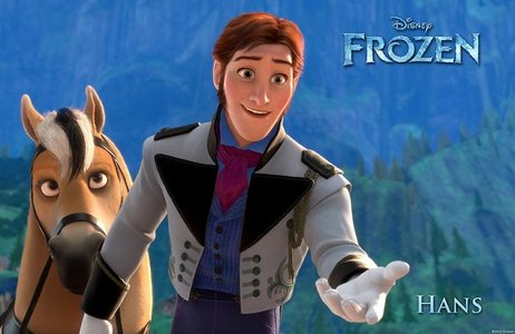 """No, I don't. In fact, I don't like him not because he is the villain, and also not because he wants to kill Elsa. The simple answer is: I just don't like him from the first I saw him in the merchandise picture. u know """"liking"""" is preference. I don't like his hair/beard around his jaws. His face is weird with too-long chin. Besides, he's full of insincerity and dishonesty. I don't really think he really has a great sense of humor and loves sandwiches. He only follows Anna's personality so he can win her hart-, hart to reach his ambition. All his good action to Anna is fake. I don't like a person who is full of lies and don't change. Okay, besides that, to me he is a weak, underdeveloped villain. Actually I like other cool villain characters, but Hans is just too weak for me to like him. About u love Hans, I don't think that's rare because I know some people who are also fans of him. ;)"""