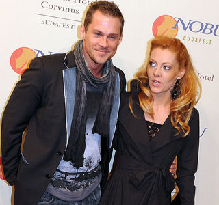 my fav hungarian actor (with his wife) :D