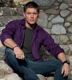 Jensen Ackles. I was looking for a specific picture where his character - Dean - wore a purple plaid shirt, it was so hot, but I couldn't find it. >_<