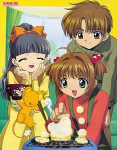 Cardcaptor Sakura-Tomoyo(Left),Sakura(Centre),Shaoran(Right)