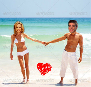 Matthew and Rachel holding hands at a strand <3333333
