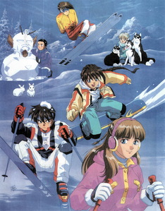 All six characters in this Gundam Wing art if they count. I don't want to hear any complaining.
