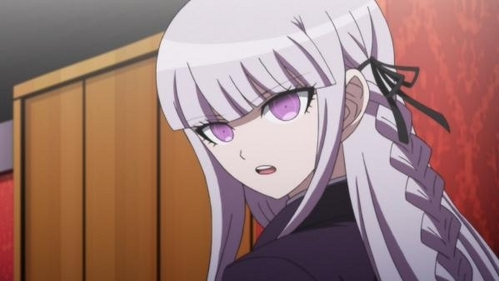 Kyouko Kirigiri. Someone had done the math (since they never revealed the true ages of the characters), making her around 18-20.