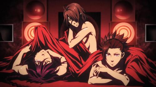 Loki, Hades, and Susanoo from Kamigami no Asobi.