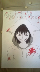 that's the anime version of jeff the killer i drew♥