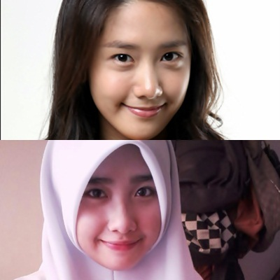[i]Hmm...some parts yes , some parts no , I think it's just the smile and eyes. In the photo below I think they look alike most but other photos , I don't think so. The Malaysian girl has chubbier cheeks and a bigger nose than Yoona and also thicker eyebrows.[/i]